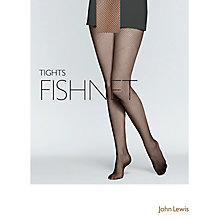 Buy John Lewis Fishnet Tights, Black Online at johnlewis.com