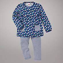 Buy John Lewis Flower Top and Leggings Set, Blue/Multi Online at johnlewis.com