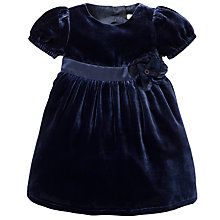 Buy John Lewis Velvet Corsage Dress, Navy Online at johnlewis.com
