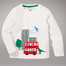 Buy John Lewis Dino Tours Long Sleeve Top, Cream Online at johnlewis.com