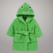 Buy John Lewis Novelty Frog Robe, Green Online at johnlewis.com