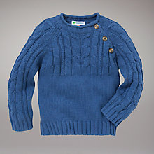 Buy John Lewis Fisherman Jumper, Navy Online at johnlewis.com