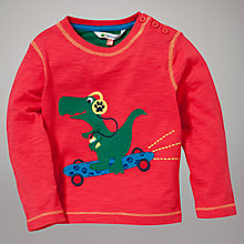 Buy John Lewis Skateboard Dinosaur Long Sleeve Top, Red/Multi Online at johnlewis.com