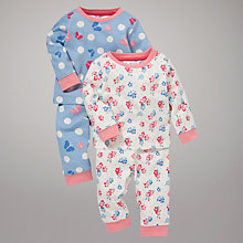 Buy John Lewis Butterflies & Roses Pyjamas, Pack of 2, Multi Online at johnlewis.com