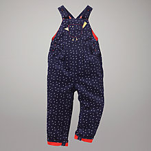 Buy John Lewis Spot Cord Dungarees, Navy Online at johnlewis.com