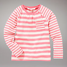Buy John Lewis Striped Pointelle Long Sleeve Top Online at johnlewis.com