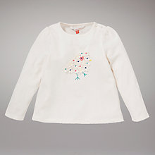 Buy John Lewis 3D Bird Detail Long Sleeve Top, Cream Online at johnlewis.com