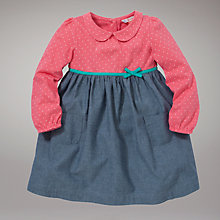 Buy John Lewis Spot Chambray Dress, Pink/Blue Online at johnlewis.com