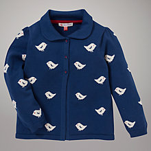 Buy John Lewis Bird Cardigan, Blue Online at johnlewis.com