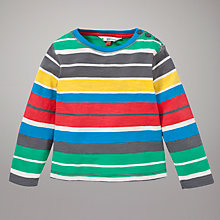 Buy John Lewis Block Stripe Long Sleeve Top, Multi Online at johnlewis.com