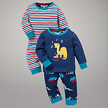 Buy John Lewis Musical Dinosaur Pyjamas, Pack of 2, Navy Online at johnlewis.com