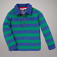Buy John Lewis Stripe Rugby Top, Green/Blue Online at johnlewis.com