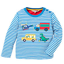Buy John Lewis Stripe Dinosaur Transport Top, Blue/Multi Online at johnlewis.com