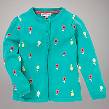 Buy John Lewis Flower Cardigan, Green Online at johnlewis.com