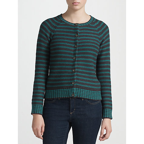 Buy Collection WEEKEND by John Lewis Stripe Stitch Reverse Cardigan Online at johnlewis.com