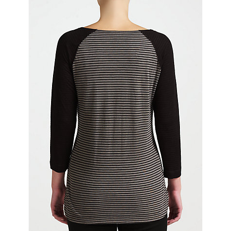 Buy Kin by John Lewis Striped Jersey Top, Grey/Black Online at johnlewis.com