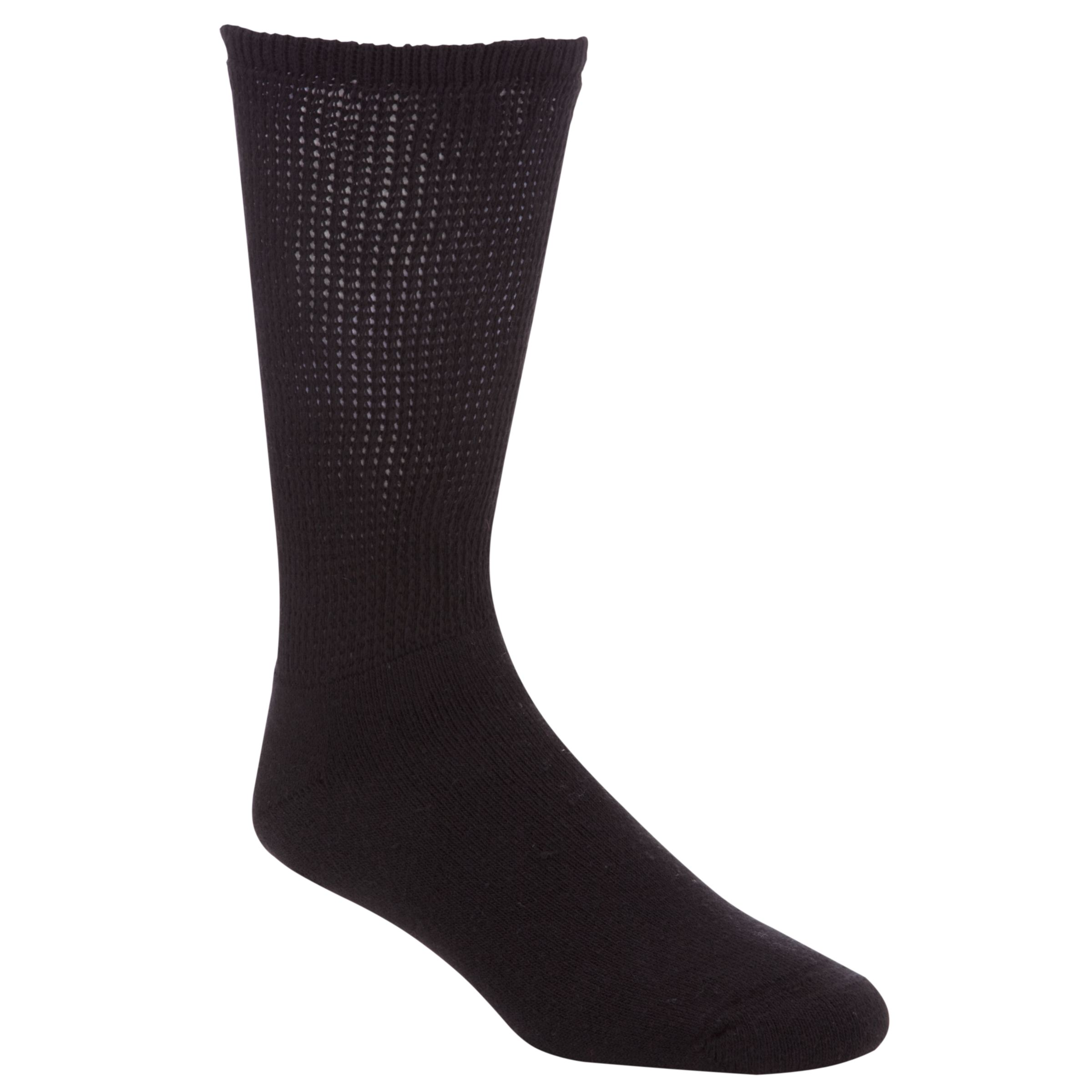 HJ Hall HJ Hall Diabetic Socks, One Size, Black