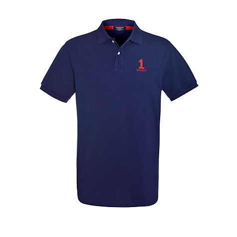 Buy Hackett London Small Number Polo Shirt Online at johnlewis.com