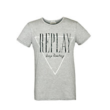 Buy Replay Rocking T-Shirt, Grey Online at johnlewis.com