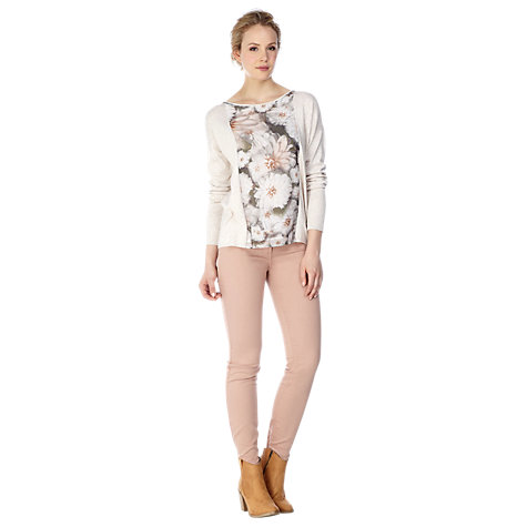 Buy Kaliko Print Chiffon Jumper, Neutral Online at johnlewis.com