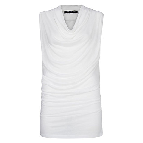 Buy Mango Drape Neck Top Online at johnlewis.com