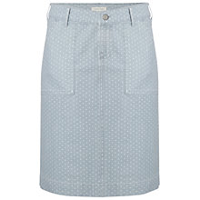 Buy White Stuff Sidney Spot Skirt, Whisper Grey Online at johnlewis.com
