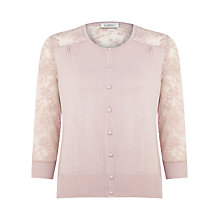 Buy Kaliko Lace Details Cardigan, Orange Online at johnlewis.com