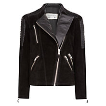 Buy Mango Combi Leather Jacket Online at johnlewis.com