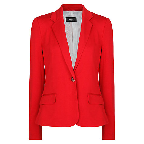 Buy Mango Jersey Blazer, Bright Red Online at johnlewis.com