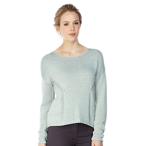 Buy Kaliko Drop Stitch Jumper, Green Online at johnlewis.com