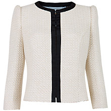 Buy Ted Baker Kata Cropped Jacket, Ecru Online at johnlewis.com