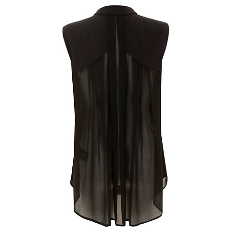Buy Mint Velvet Pleat Back Blouse, Black Online at johnlewis.com