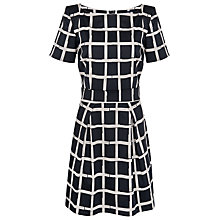 Buy French Connection Paintcheck Ritchie Dress, Black Online at johnlewis.com