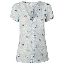 Buy White Stuff Sunny Coast Top, Light Moon Blue Online at johnlewis.com