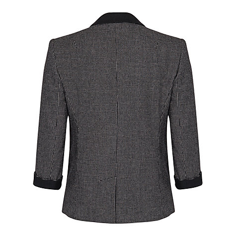 Buy French Connection Pop Trim Jacket, Black / White Online at johnlewis.com