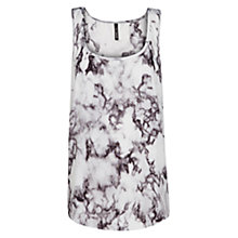 Buy Mango Digital Print Top, Natural White Online at johnlewis.com
