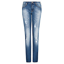 Buy Mango Slim Fit Crop Jeans, Medium Blue Online at johnlewis.com
