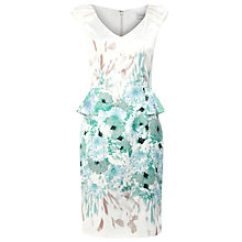 Buy Kaliko Lois Print Shift Dress, Green Online at johnlewis.com