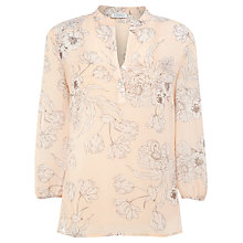 Buy Kaliko Neve Print Blouse, Orange Online at johnlewis.com