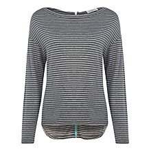 Buy Kaliko Striped Zip Back Top, Grey Online at johnlewis.com