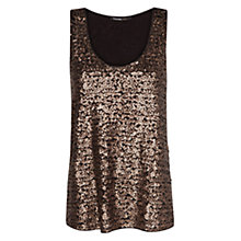 Buy Mango Sequin Top, Mocha Online at johnlewis.com