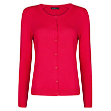 Buy Mango Round Neck Cardigan, Medium Pink Online at johnlewis.com