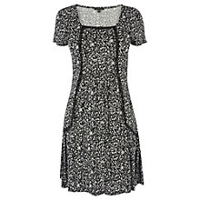 Buy Warehouse Ditsy Smock Dress, Black Online at johnlewis.com