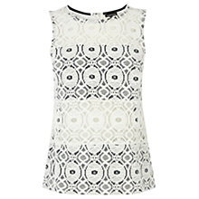 Buy Warehouse Lace Top, White Online at johnlewis.com