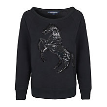 Buy French Connection Estelle Sweatshirt, Black Online at johnlewis.com