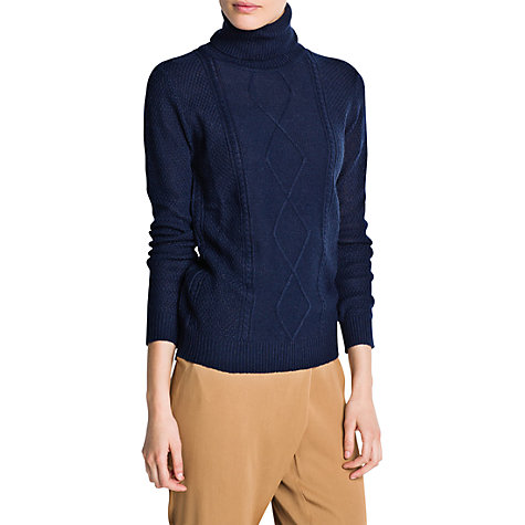 Buy Mango Cable Turtleneck Sweater Online at johnlewis.com