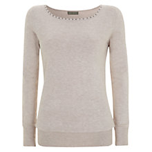 Buy Mint Velvet Stud Knitted Jumper, Neutral Online at johnlewis.com