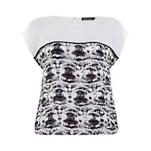 Buy Mint Velvet Lucia Print Bubble Top, Multi Online at johnlewis.com