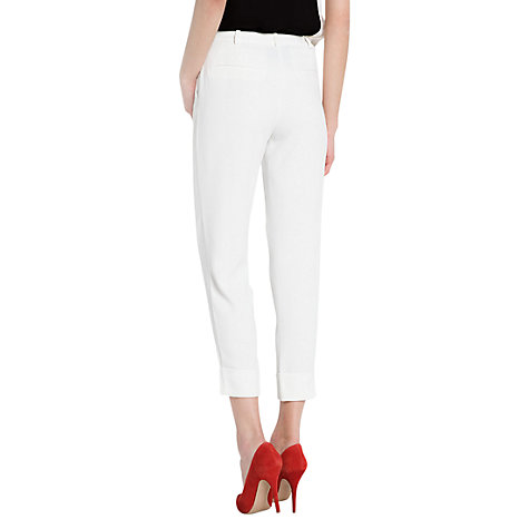 Buy Mango Slim Wrap Trousers, Natural White Online at johnlewis.com