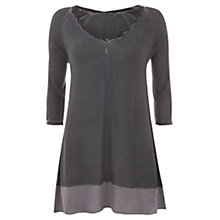 Buy Mint Velvet Damson Overdye Knitted Top, Purple Online at johnlewis.com